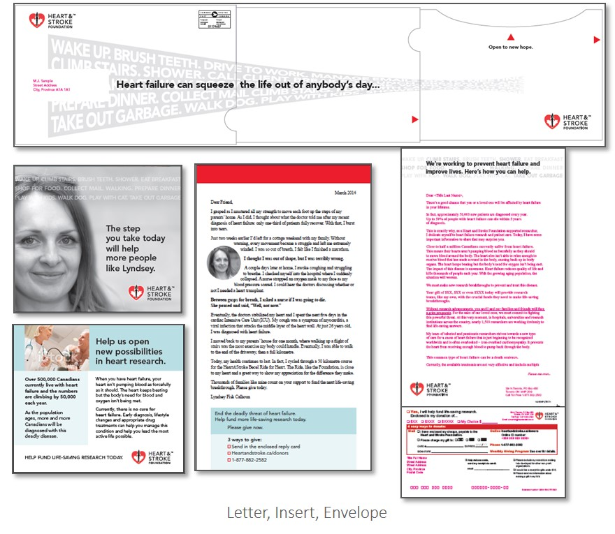 thinkdoDELIVERS  – Heart & Stroke Foundation Non Premium Direct Mail